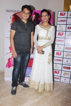 Director Rahat Kazmi and actor Bidita Bag at the trailer launch of their film Rabbi to release on 15th Sept 2017