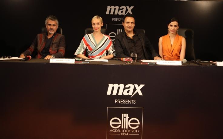 Jury (L-R) Arjun Khanna, Jennifer May Cope, Marc Robinson, Alesia Raut