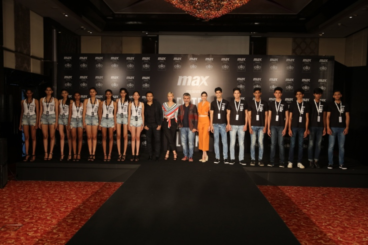 Jury with Finalists of Elite Model Look India 2017