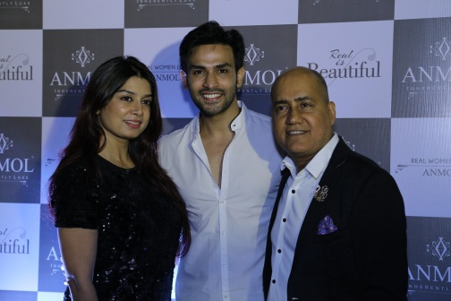 Neha Mishra, Naman Shaw and Ishu Datwani at ANMOL's campaign launch event