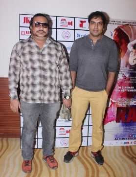 Ravinder Reddy and Sameer Patel at the trailer launch of Rahat Kazmi's film Rabbi to release on 15th Sept 2017