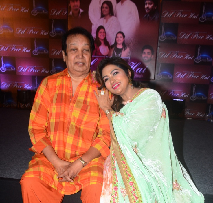 Bhupinder Singh and Mitali Singh at Bhumitaal Music's Dil Peer Hai album launch