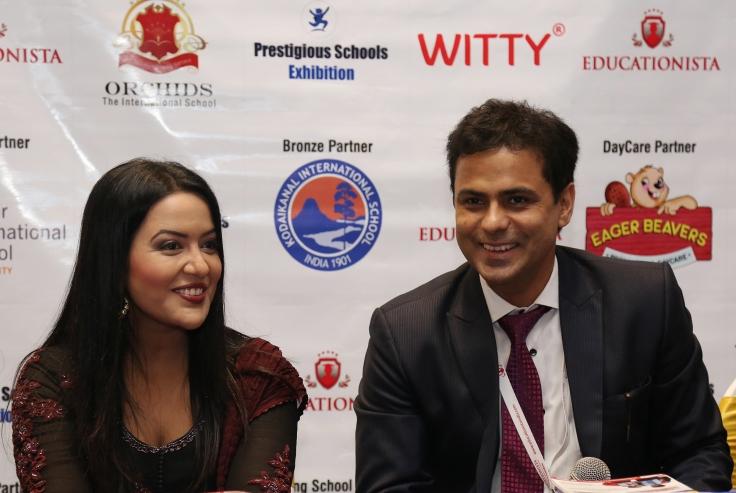 Amruta Fadnavis and Pawan Shankar at the Educationista's Prestigious Schools Exhibition at Bombay Exhibition Centre, NESCO