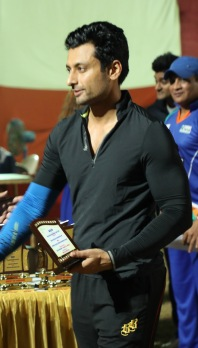Indraneil Sengupta at a cricket match between Boxy Boyz Celebrity XI & Specially Abled India XI at Goregon Sports Club