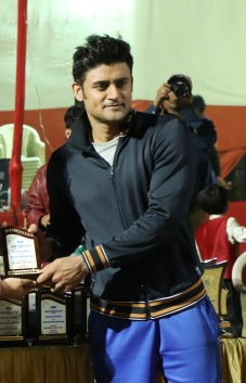 Manav Gohil at a cricket match between Boxy Boyz Celebrity XI & Specially Abled India XI at Goregon Sports Club