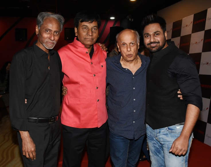 Narendra Sharma, Sayeed Quadri, Mahesh Bhatt and Mithoon Sharma at the launch of Sayeed Quadri's book, Awarapan