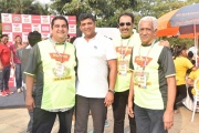 From left to right ALM chairman Mr. Shazad Rustomji, MLA Mr. Aslam Shaikh, ALM member Puneet Khanna, Mr. Rajagopal ALM member at Malad Masti opening ceremony