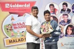 MLA Mr. Aslam Shaikh and Mr. Raju Srivastava, comedian at Malad Masti opening ceremony