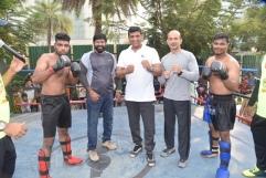 MLA, Mr. Aslam Shaikh at Kickboxing road activity at Malad Masti opening ceremony