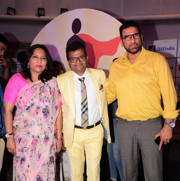 Abha Singh, Dr.Aneel Kashi Murarka and Mukesh Rishi at Ample Missiion's Shoorveer Awards & Bharat Prerna Awards 2019