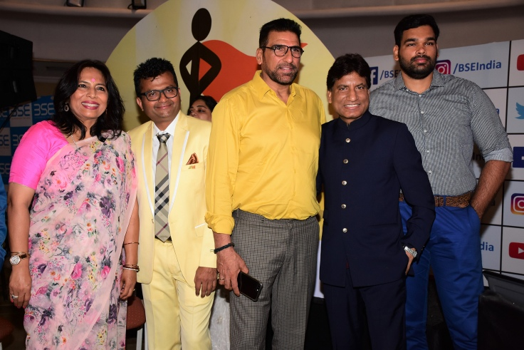 Abha Singh, Dr.Aneel Kashi Murarka, Mukesh Rishi, Raju Shrivastav and Raghav Rishi at Ample Missiion's Shoorveer Awards & Bharat Prerna Awards 2019