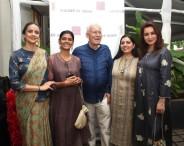 (L-R) Gul Panag - Nandita Das - David Housego, Chairman, Shades of India - Mandeep Nagi, Design Director, Shades of India - Tisca Chopra
